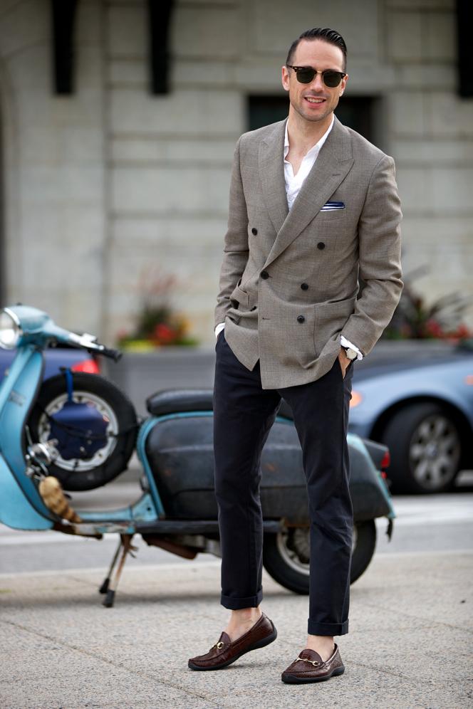 Linen Double Breasted Blazer - He Spoke Style