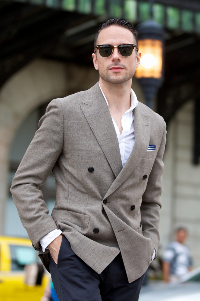 Linen Double-Breasted Blazer - He Spoke Style