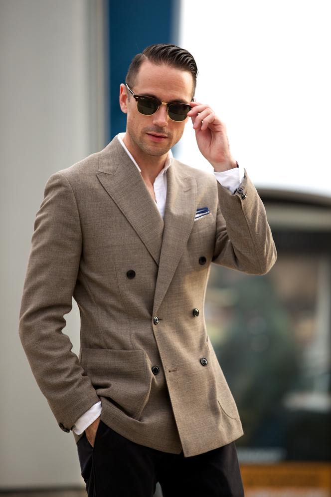 Linen Double-Breasted Blazer - He Spoke Style