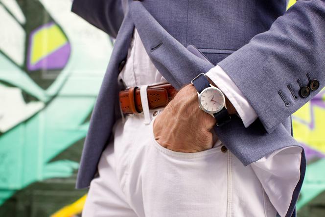 Blue Linen Blazer - He Spoke Style