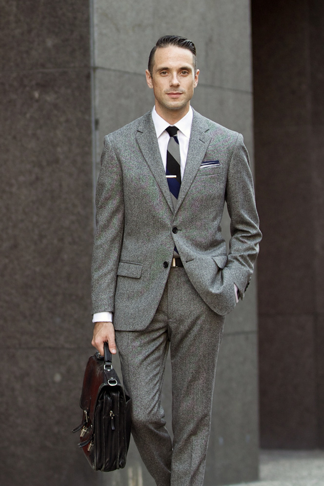 The Grey Tweed Suit He Spoke Style