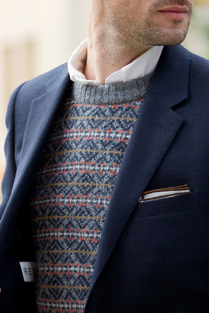Fair Isle Crew Neck Sweater - He Spoke Style