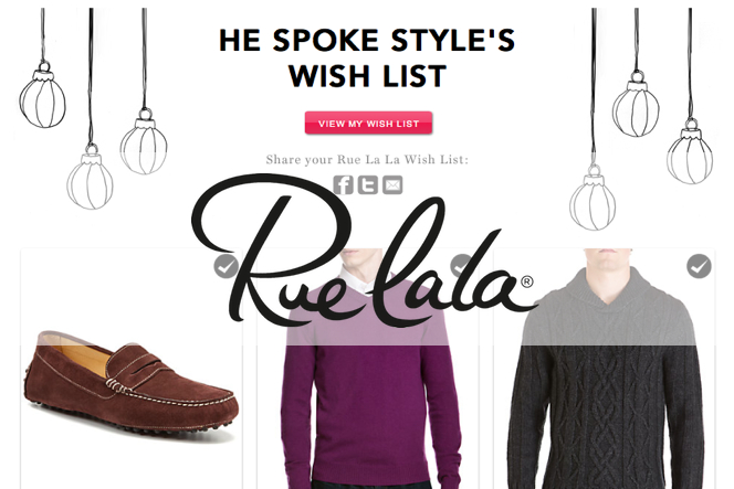 Rue La La Wish List