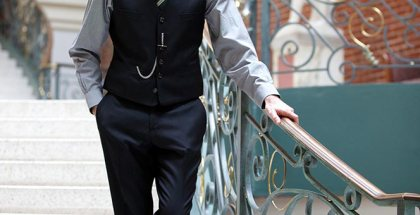 Black Waistcoat and Pants - He Spoke Style