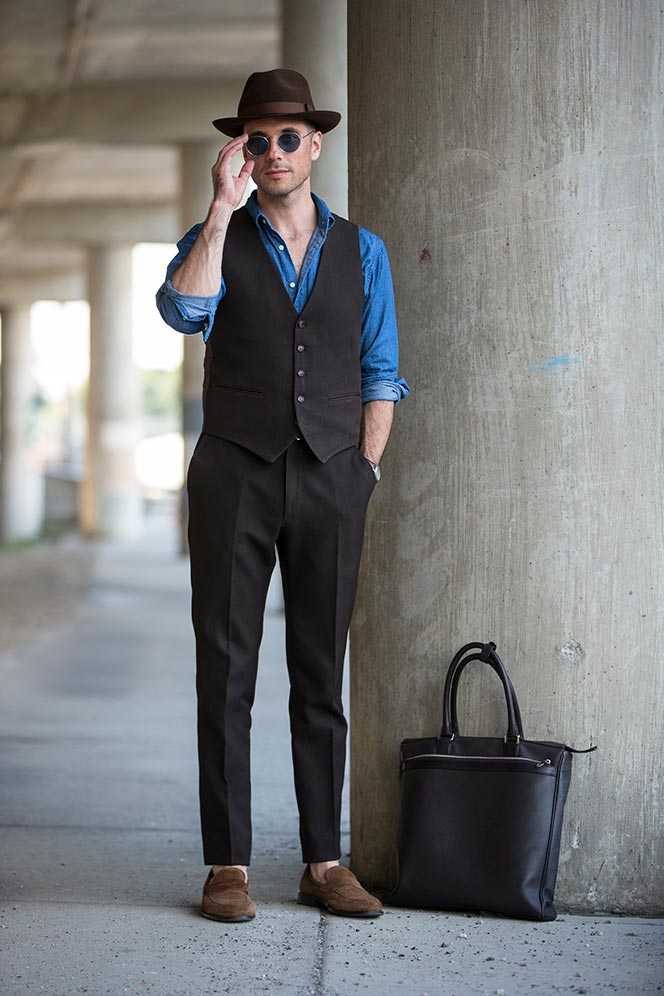 Brown Three-Piece Suit - He Spoke Style