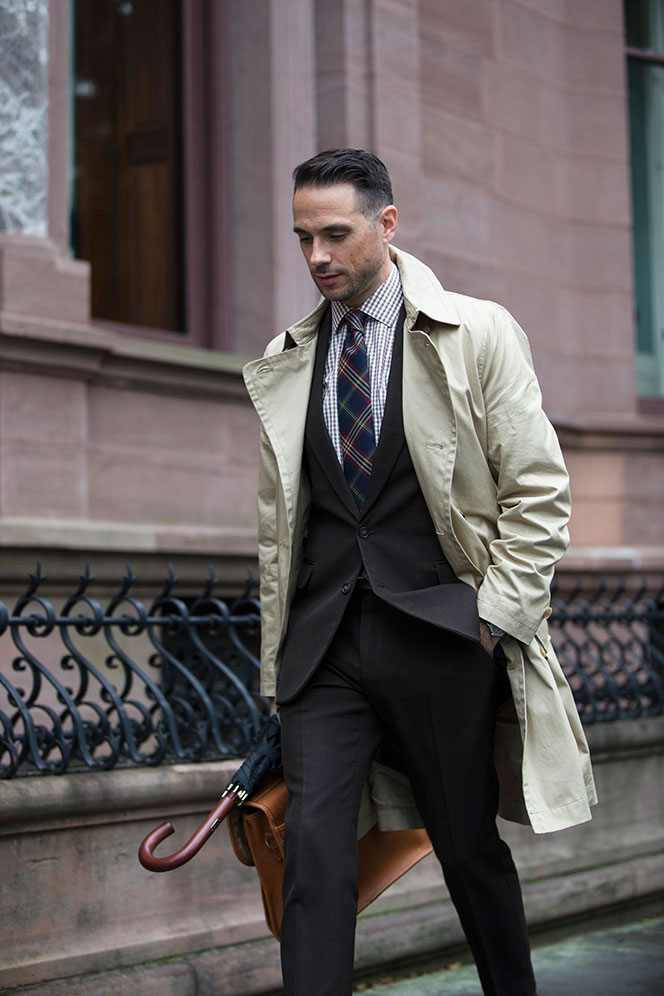 A Menswear Classic The Khaki Trench By Brian Sacawa