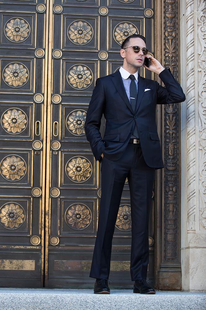 Classic Navy Suit - He Spoke Style