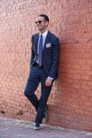 Pinstripe Suit Italian Flair - He Spoke Style