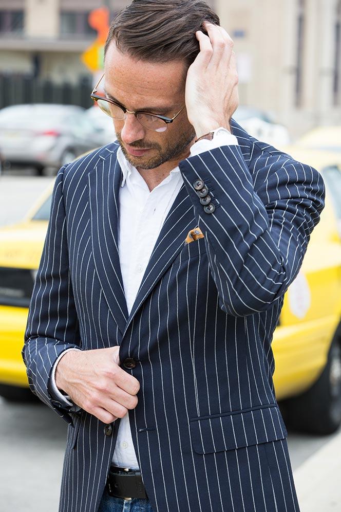 Vince Camuto One-Button Pinstripe Blazer | Nordstrom