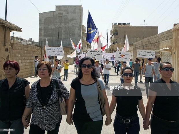 Демонстрация ассирийской Партии единства