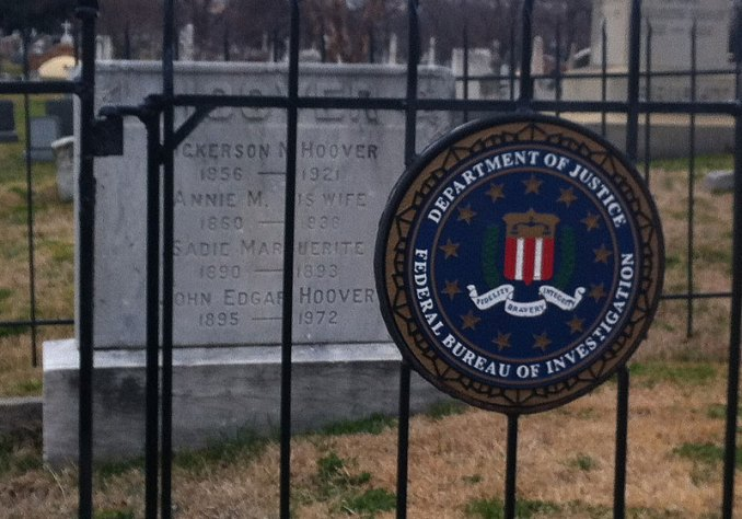 J. Edgar Hoover's gravesite at Congressional Cemetery (Photo By: heydayjoe)