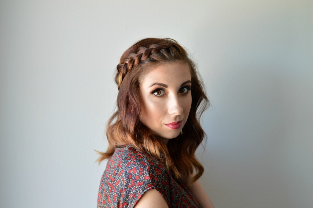 Favorite Fall Braid and hair products. Looking for an affordable hair care reginime to keep your hair moisturized during the dry fall and winter? Reviewing an amazingly affordable line on the blog and sharing how to get this amazing braided style with a tutorial // Hey There, Chelsie