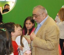 HFC President, Christodoulos Yiallourides, talks to young visitors. HFC.