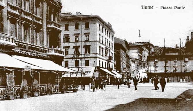Rijeka-Banca Popolare na danasnjem Trgu Republike Hrvatske