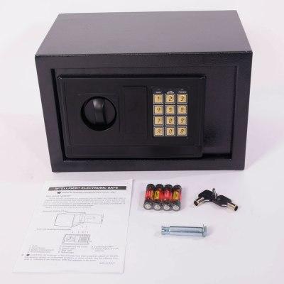 Small Digital Steel Safe Electronic Locking Money Strongbox Cash Box Keys Black | eBay