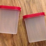 Tupperware Red spice shakers