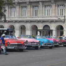 Colorful classic American cars in Havanna