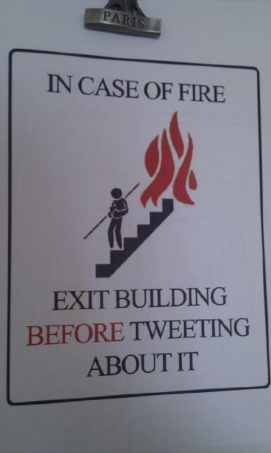 Em caso de incêndio