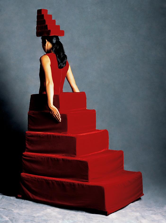 Yuki Nakamura  red stair