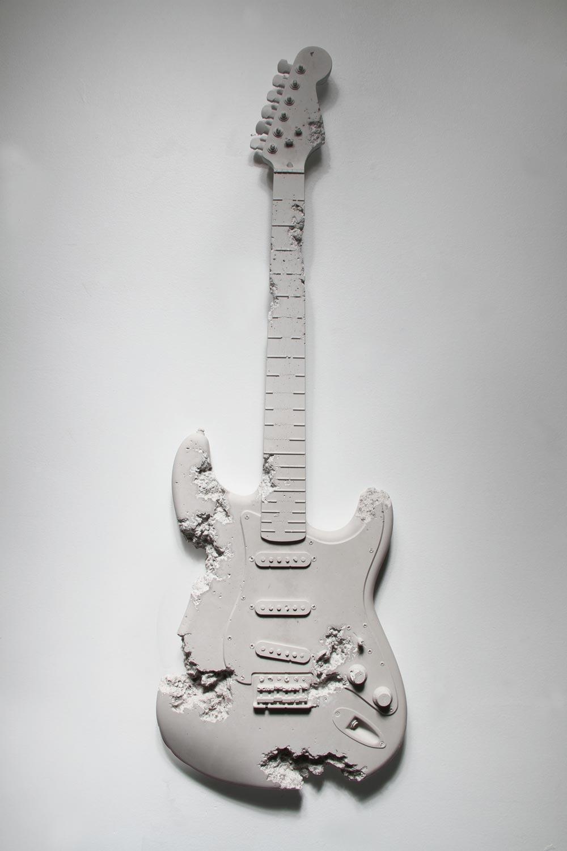 Daniel Arsham  Rose Quartz Eroded Guitar