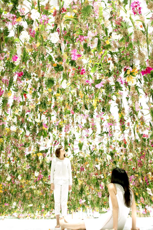 teamlab  floating flower garden