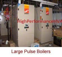 HVAC Pulse Hot Water Boilers serving a college campus
