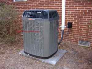 This Trane Condenser is a part of a heat pump split system
