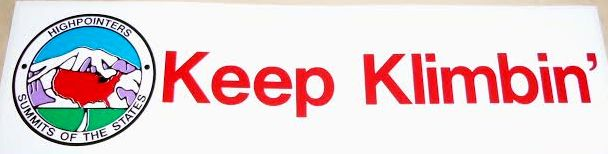 "Bumper Sticker – ""Keep Klimbin'"""