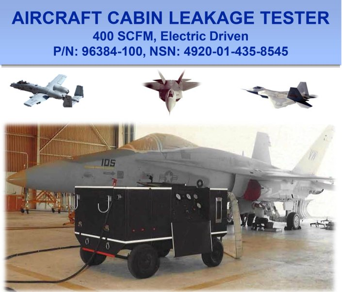 Aircraft cabin pneumatic test panel for Electric motor test panel