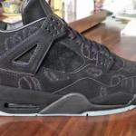 NIKE AIR JORDAN 4 KAWS BLACK SAMPLE!