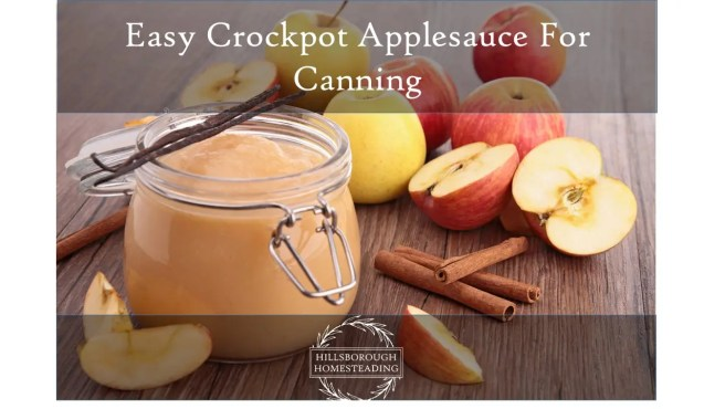 Easy Crockpot Applesauce For Canning