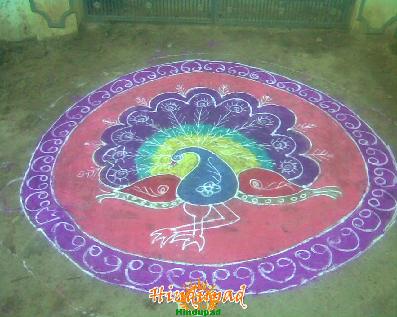 Rangoli Designs For Competition With Concepts Sankranthi muggu 1