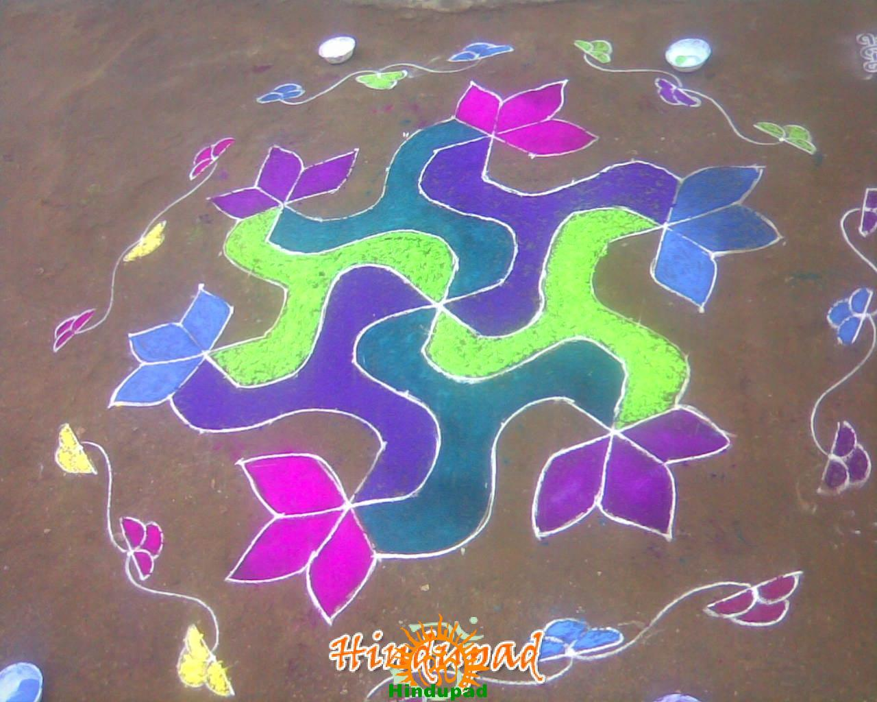 Rangoli Designs For Competition With Concepts Sankranthi muggu 3