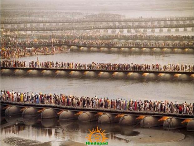 Devotees at Ghats in Kumbh Mela 2013