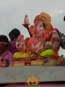Ganesh immersion in Hyderabad 1