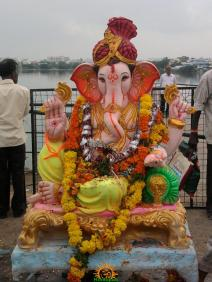 Ganesh immersion in Hyderabad 2