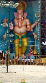 72-feet Ganapathi idol 2016 3 at Vijayawada Tallest