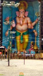 72-feet Ganapathi idol 2016 4 at Vijayawada Tallest