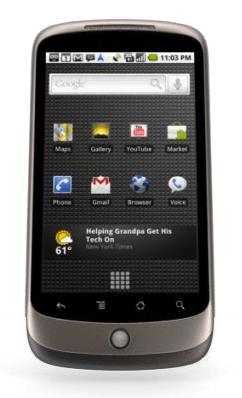 Google Nexus One home