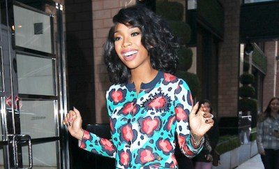 Brandy Norwood arriving at her hotel in New York