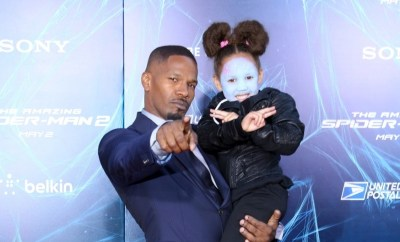 Jamie Fox and Annalise Bishop at 'The Amazing Spider-Man 2' premiere at the Ziegfeld Theater in New York City