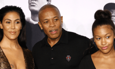 Dr. Dre, wife Nicole Young and Daughter at the Los Angeles premiere of 'Straight Outta Compton'