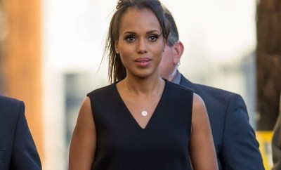148343, Kerry Washington seen at Jimmy Kimmel Live in Hollywood. Los Angeles, California - Thursday, February 18, 2016. Photograph: PacificCoastNews. Los Angeles Office: +1 310.822.0419 sales@pacificcoastnews.com FEE MUST BE AGREED PRIOR TO USAGE