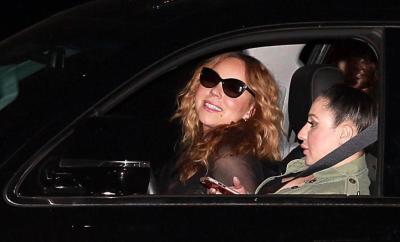 152917, Mariah Carey blows a kiss for the cameras as she leaves Nobu in Malibu with a friend. Los Angeles, California. Thursday May 26th 2016.  Photograph: © , PacificCoastNews. Los Angeles Office: +1 310.822.0419 UK Office: +44 (0) 20 7421 6000 sales@pacificcoastnews.com FEE MUST BE AGREED PRIOR TO USAGE