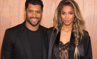 Russell Wilson and Ciara attend the Givenchy show as part of the Paris Fashion Week Womenswear Fall/Winter 2016/2017 on March 6, 2016 in Paris, France.