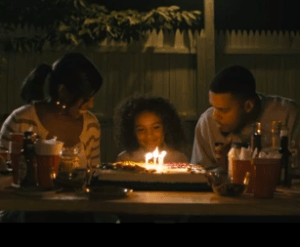 A scene from the J Cole video Crooked Smile