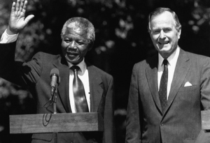 GBush Sr, Bill Clinton and G Bush Jr all kept Nelson Mandela on the terrorist watch list..