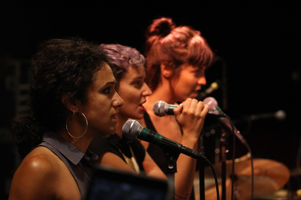 Three The Hardway..Naima Shalhoub, Lila Rose, Emily Afton Moldenhauer -stellar singers backing Raw G