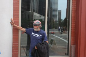 Old Man with trump t-shirt RNC-001