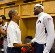 Lebron James and Obama